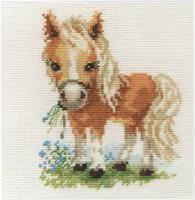White mane Horse Cross Stitch Kit by Alisa
