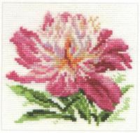Pink Peony Cross Stitch Kit by Alisa
