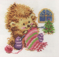 I won't tell for whom I knit Cross Stitch Kit by Alisa