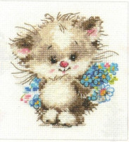 To my Favorite Cat Cross Stitch Kit by Alisa