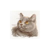 British Cat Cross Stitch Kit by Alisa