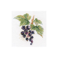 Black Currant Cross Stitch Kit by Alisa