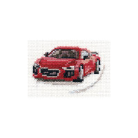 Red Sportcar Cross Stitch Kit by Alisa
