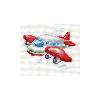 Plane Cross Stitch Kit by Alisa