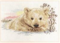Northern Bear cub Cross Stitch Kit by Alisa