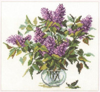 Bouquet of Lilacs Cross Stitch Kit by Alisa