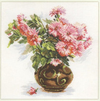 Blooming garden - Chrysanthemums Cross Stitch Kit by Alisa
