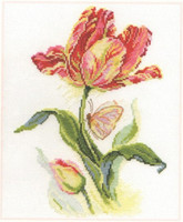 Tulip and Butterfly Cross Stitch Kit by Alisa