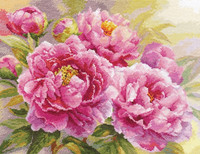 Peonies Cross Stitch Kit by Alisa