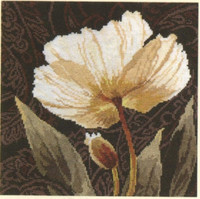 White flowers 2 Cross Stitch Kit by Alisa