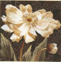 White flowers 3 Cross Stitch Kit by Alisa