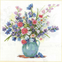 Bellflowers Cross Stitch Kit by Alisa