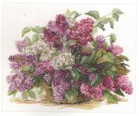 Lilac Cross Stitch Kit by Alisa