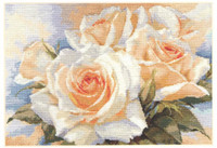 White Roses Cross Stitch Kit by Alisa