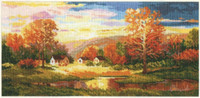 Golden autumn Cross Stitch Kit by Alisa