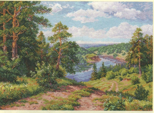 Above the river Cross Stitch Kit by Alisa