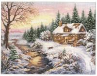 Winter - Towards evening Cross Stitch Kit by Alisa