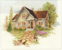 July House Cross Stitch Kit by Alisa