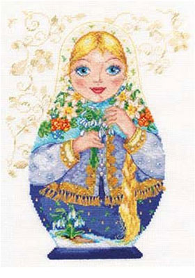 Matreshki - Spring Beauty Cross Stitch Kit by Alisa