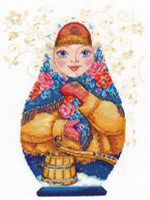 Matreshki - Winter Beauty Cross Stitch Kit by Alisa