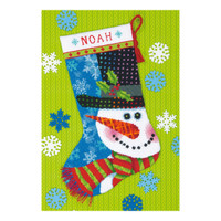 Needlepoint: Stocking: Patterned Snowman By Dimensions