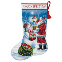 Gold: Counted Cross Stitch Stocking: Holiday Glow By Dimensions