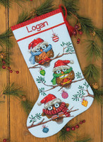 Counted Cross Stitch: Stocking: Holiday Hooties By Dimensions