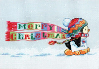 Mini Counted Cross Stitch: Christmas Penguin by Dimension