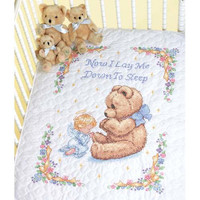 Sweet Prayer Stamped Quilt Cross Stitch Kit