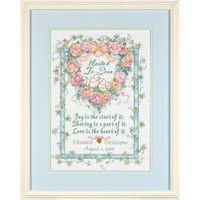 United In Love Birth Record Cross Stitch Kit