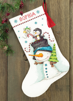 Jolly Trio Cross Stitch Stocking Kit by Dimensions