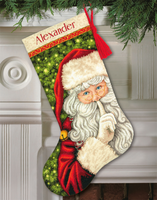 Secret Santa Stocking Cross Stitch Kit by Dimnesions
