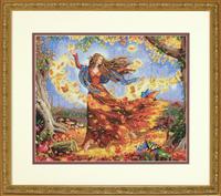 Fall Fairy Cross Stitch Kit
