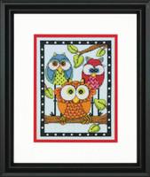Owl Trio Cross Stitch Kit by Dimensions