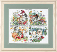 Four Seasons Kittens Cross Stitch Kit
