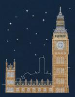 """London By Night """"Glow in the Dark"""" Cross Stitch Kit By DMC"""