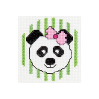 My 1st Stitch Panda Mini Counted Cross Stitch Kit By Bucilla