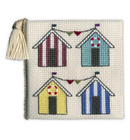 Beach Hut Needle Case Cross Stitch Kit by Textile Heritage