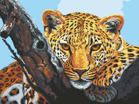 Leopard Look Tapestry Canvas By Grafitec