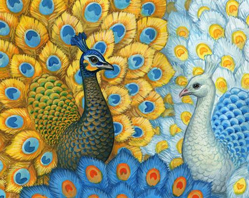 Grafitec Printed Tapestry//Needlepoint Kit Peacock Paradise