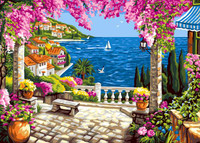 Riviera Dream Tapestry Canvas By Grafitec
