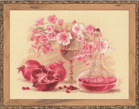 Pink Pomegranate Cross Stitch Kit By Riolis