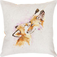 Fox Family Pillow Cross Stitch Kit by Luca S