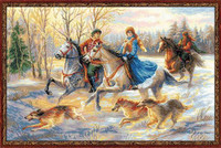 Russian Hunting Cross Stitch Kit by Riolis