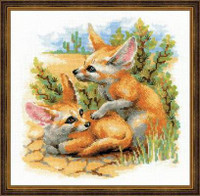 Desert Foxes Cross Stitch Kit By Riolis