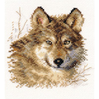 Wolf Cross Stitch Kit by Alisa