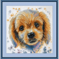 Puppy Cross stitch Kit By Oven