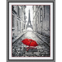 Rain in Paris Cross Stitch Kit by Oven