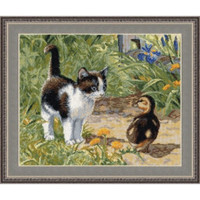 Unexpected Meeting Cross Stitch Kit by Oven