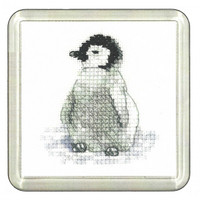 Penguin Cross Stitch Coaster Kit By Heritage